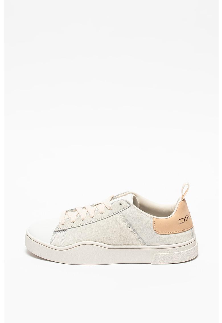 Pantofi sport low-top din piele si piele cu par scurt S-Clever