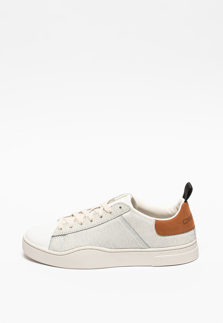 Pantofi sport din piele cu par scurt si garnituri din piele S-Clever