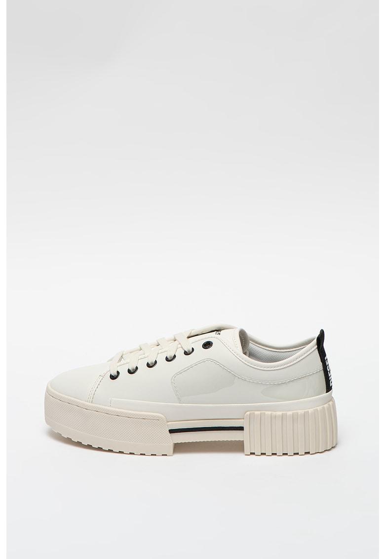 Pantofi sport flatform din piele cu logo S-Merley