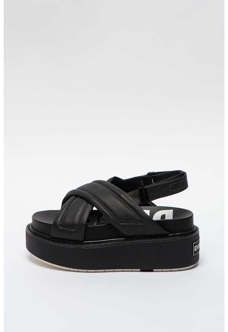Sandale slingback wedge de piele Scirocco XR