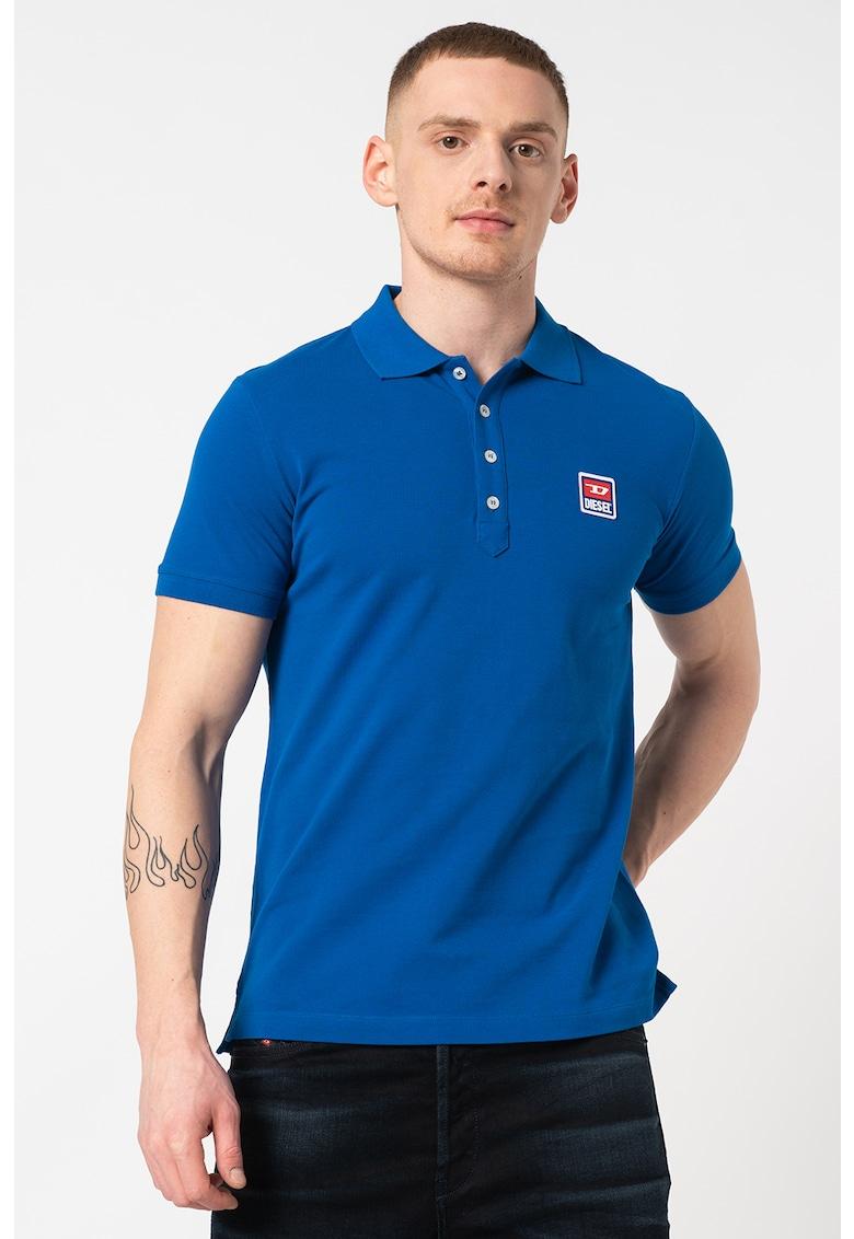 Tricou polo cu broderie logo pe piept Kal Bărbați imagine