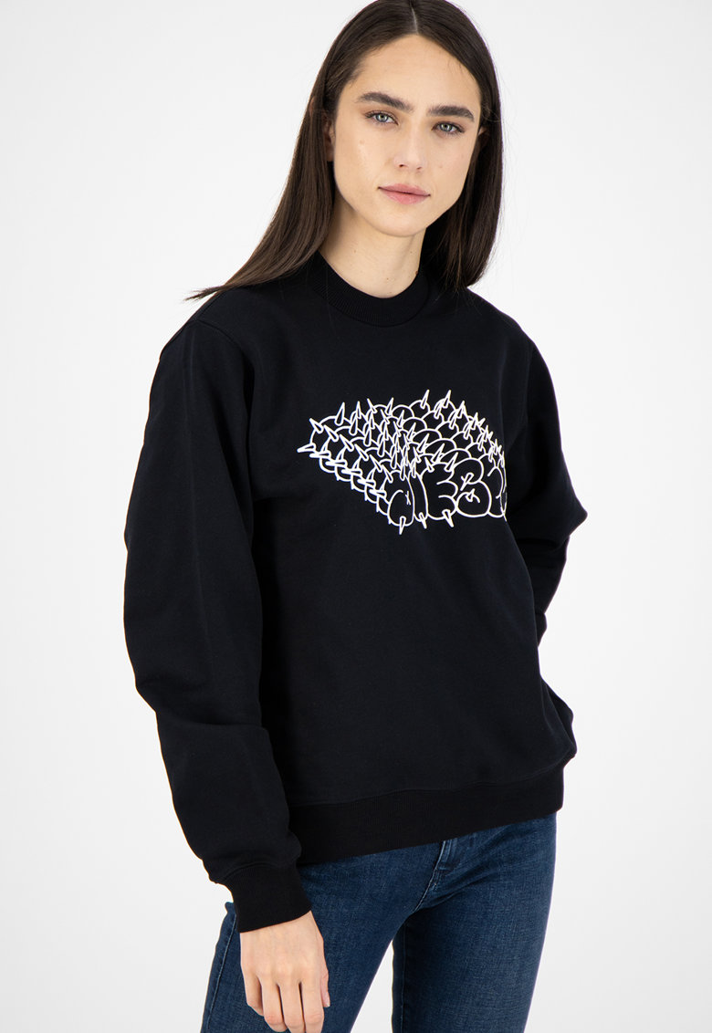 Bluza sport cu imprimeu grafic poza fashiondays