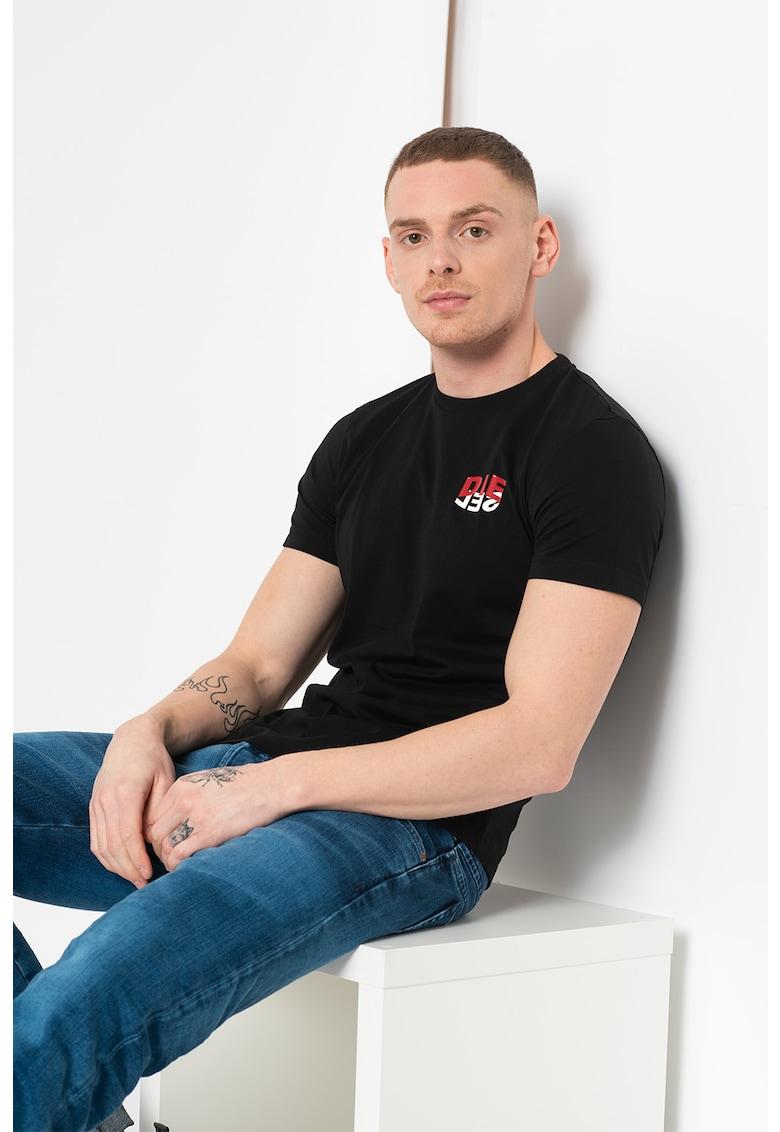 Tricou cu detaliu logo Diego Bărbați imagine
