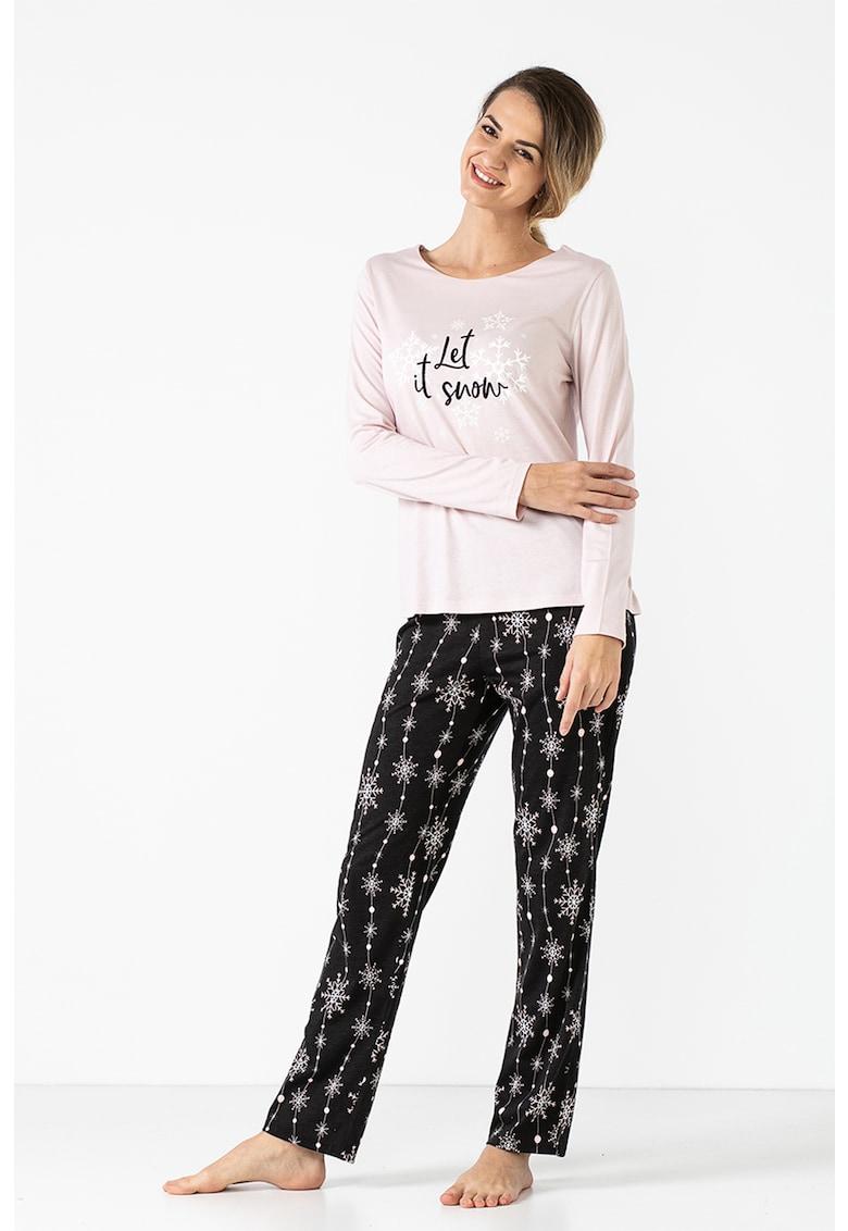 Pijama din amestec de modal Winter Story