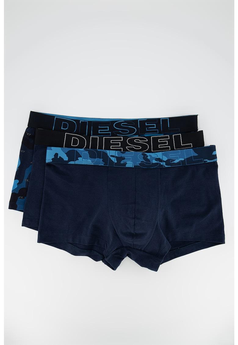 Set de boxeri cu imprimeu camuflaj si uni Damien - 3 perechi