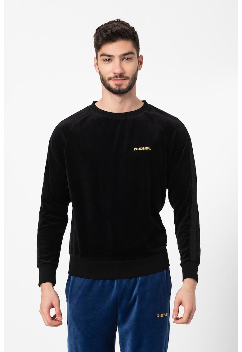 Bluza de pijama de catifea Max imagine fashiondays.ro Diesel
