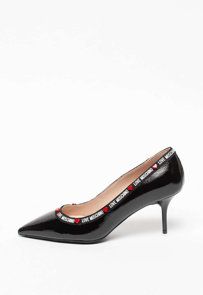 Pantofi din piele cu varf ascutit Vernice Love Moschino fashiondays.ro