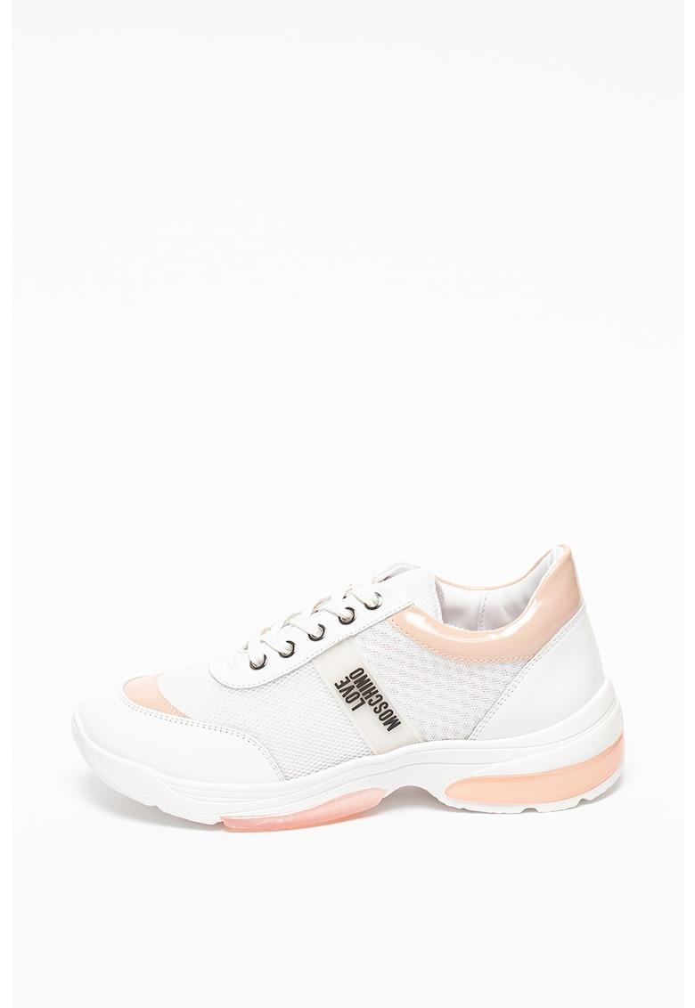 Pantofi sport masivi cu garnituri din piele Love Moschino fashiondays.ro