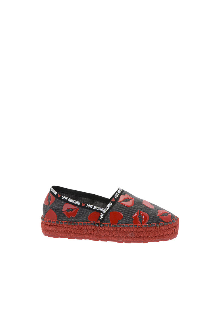 Espadrile cu model buze Love Moschino fashiondays.ro