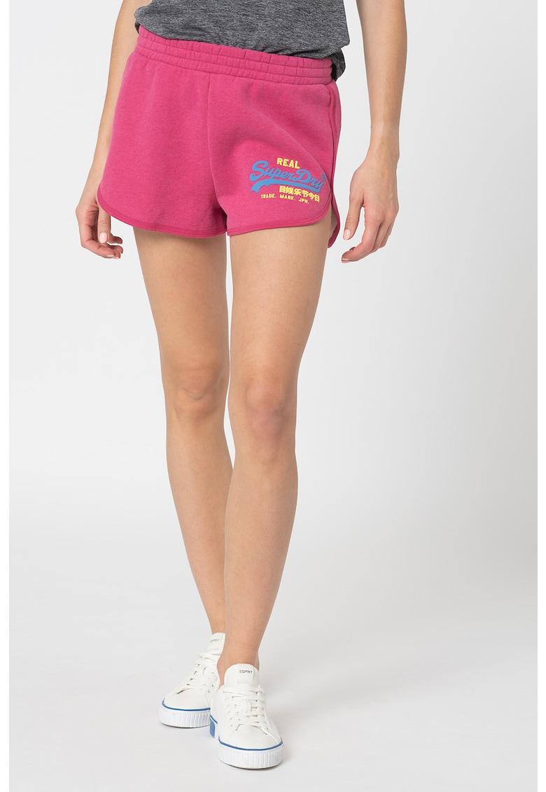 Pantaloni scurti cu imprimeu logo Duo SUPERDRY fashiondays.ro