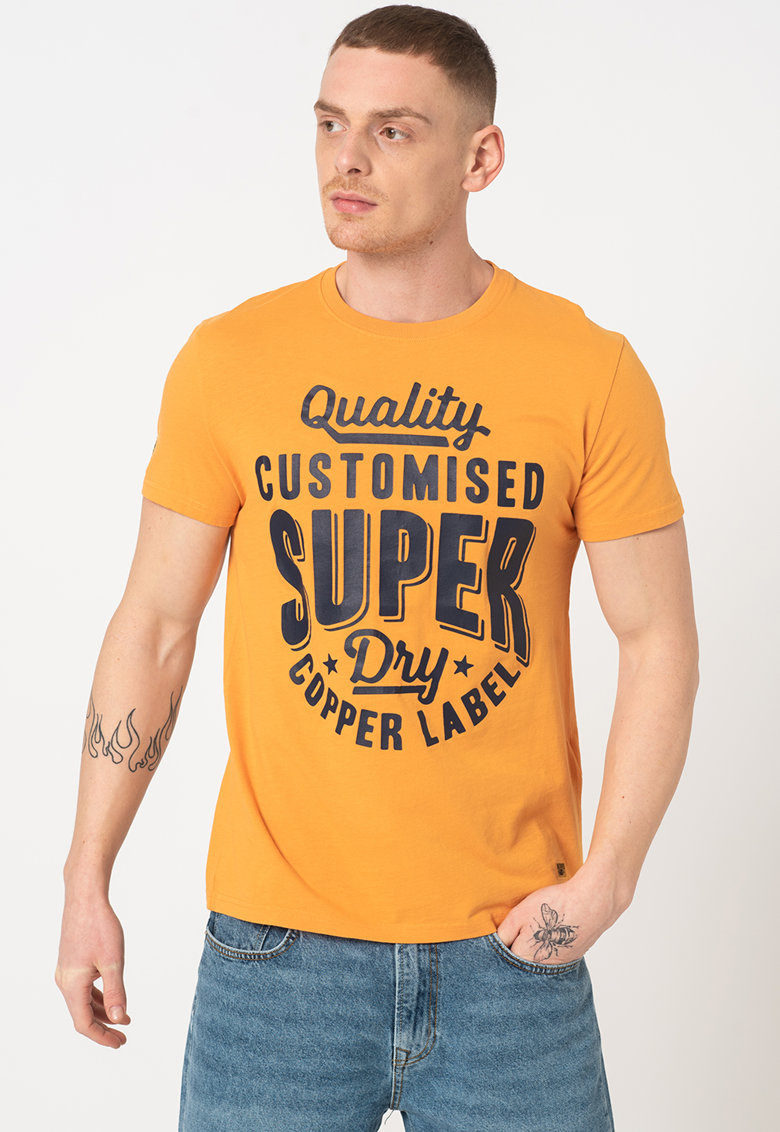 Tricou de bumbac cu imprimeu Workwear Bărbați imagine