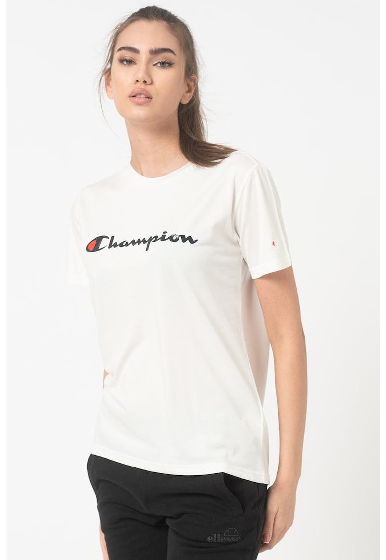 Tricou din amestec de modal cu decolteu la baza gatului Lady Rochester imagine fashiondays.ro