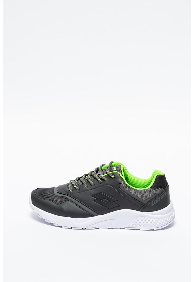Champion - Pantofi sport din piele ecologica si plasa Tailor imagine