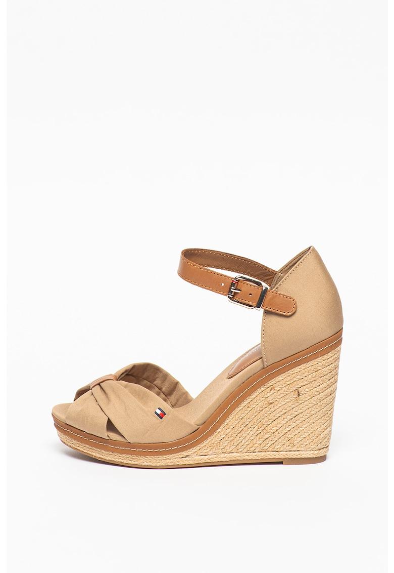 Sandale tip espadrile cu talpa wedge Iconic Elena