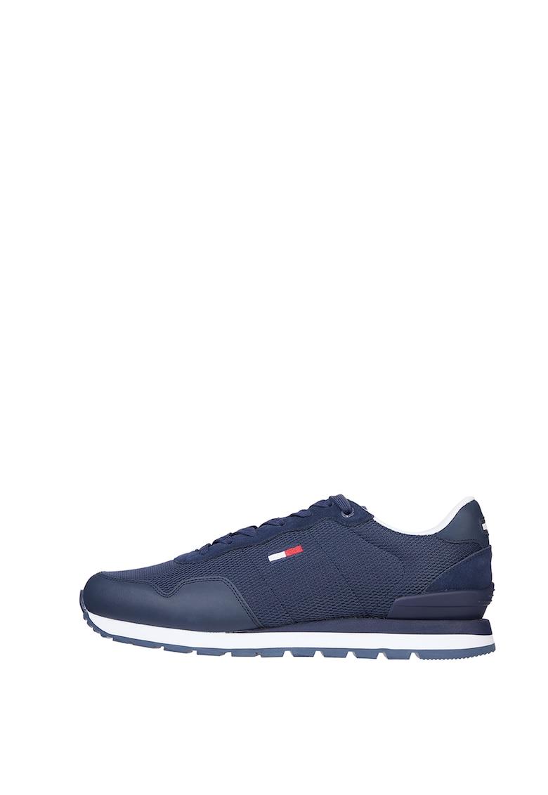 Pantofi sport cu insertii de piele intoarsa imagine