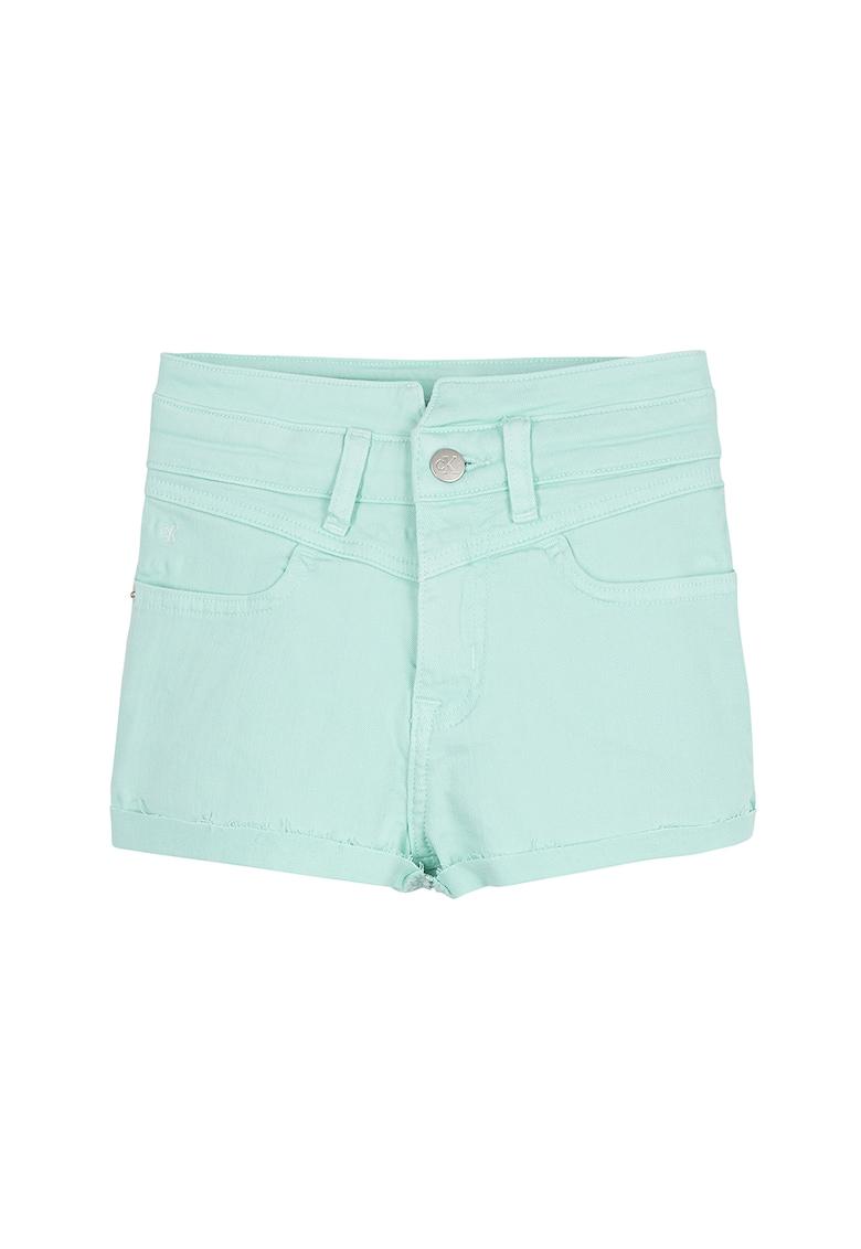 Pantaloni scurti din denim - cu franjuri fashiondays.ro