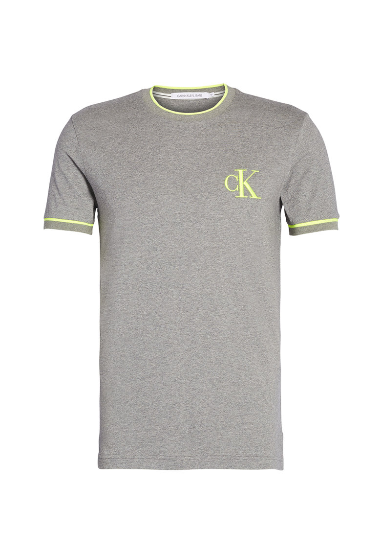 Tricou de jerseu din bumbac organic cu logo brodat imagine