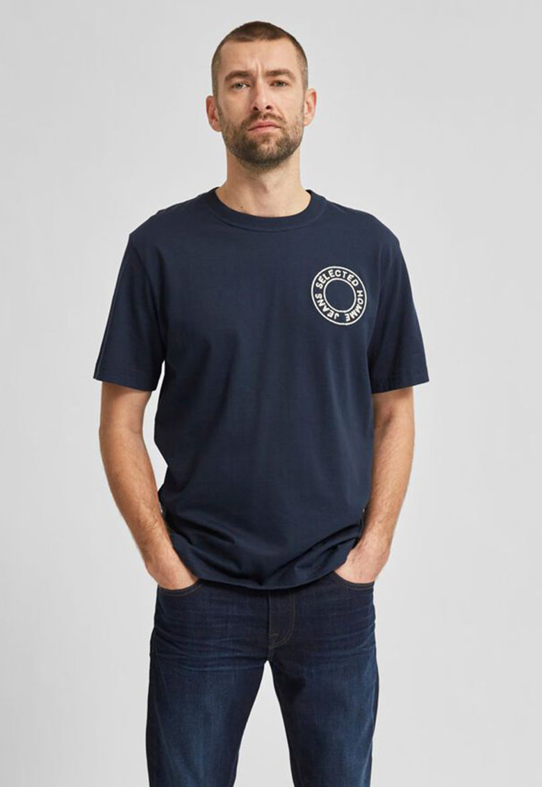 Tricou din bumbac organic cu logo Bărbați imagine
