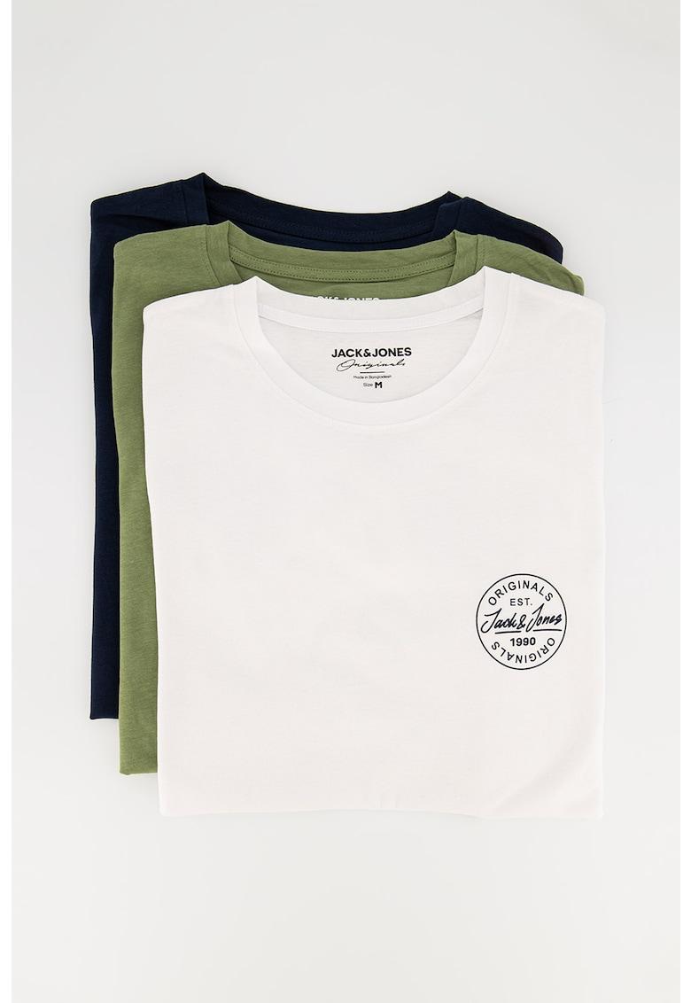 Set de tricouri cu decolteu la baza gatului More - 3 piese