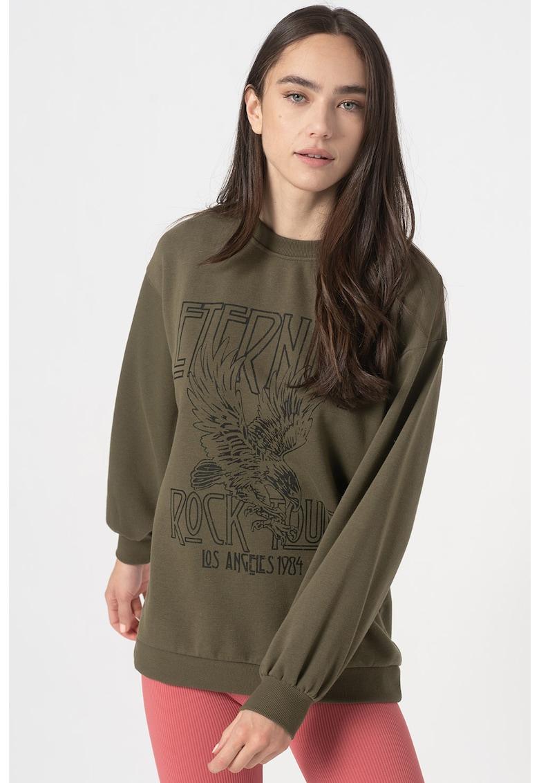 Bluza sport cu imprimeu grafic Natalie
