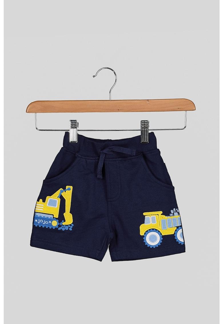 Pantaloni scurti de bumbac cu masinute aplicate imagine fashiondays.ro