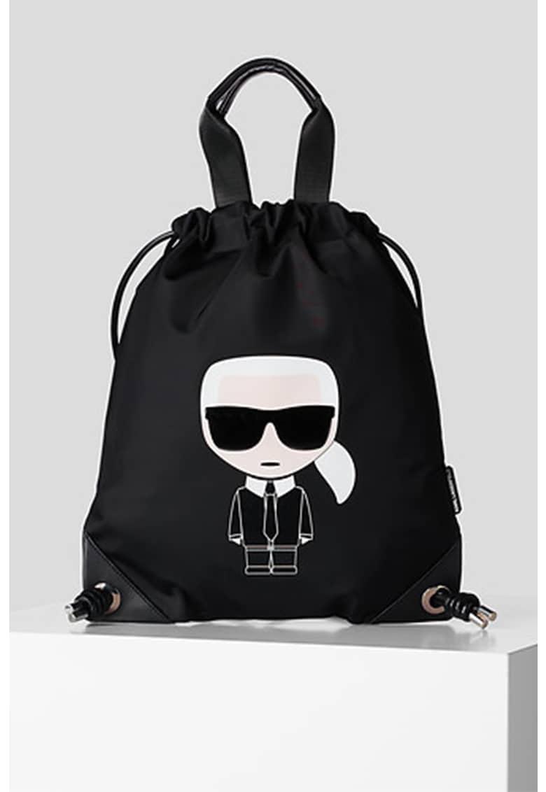 Karl Lagerfeld Rucsac din material textil cu imprimeu logo Ikonik