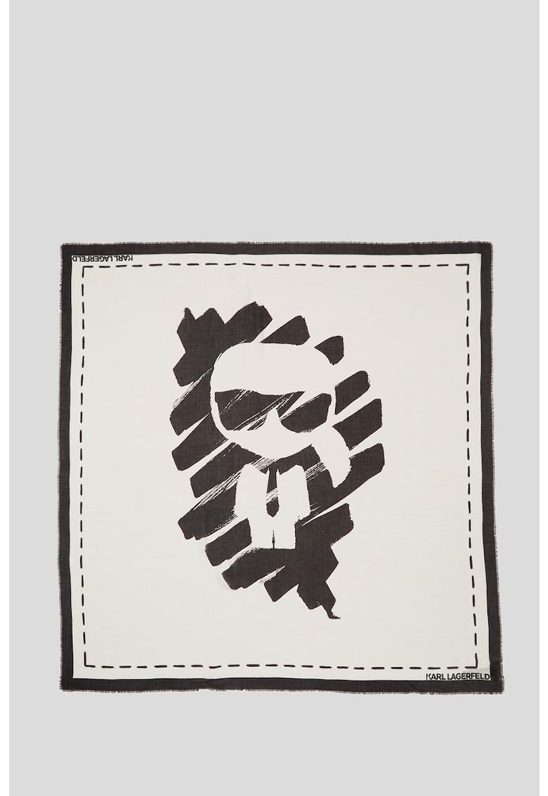 Esarfa cu imprimeu graffiti K/Ikonik imagine fashiondays.ro Karl Lagerfeld