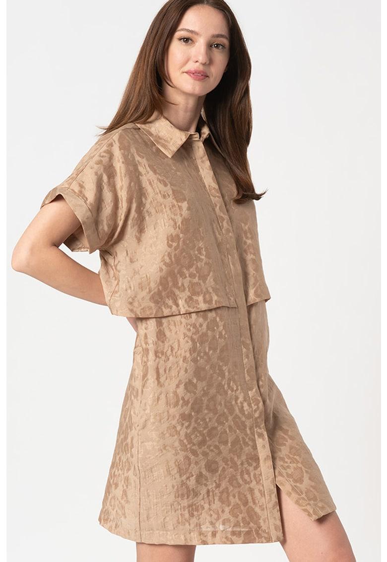 Rochie de lyocell cu maneci drop