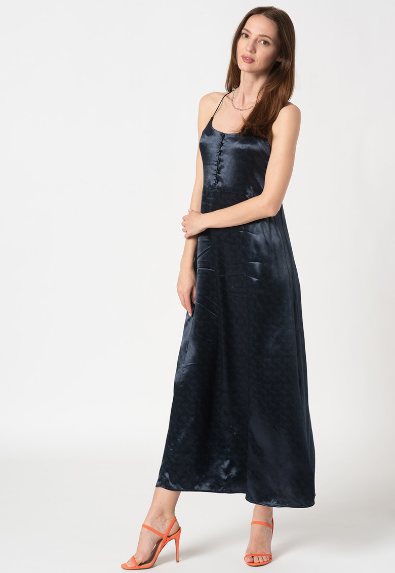 Rochie maxi cu model incrucisat pe partea din spate
