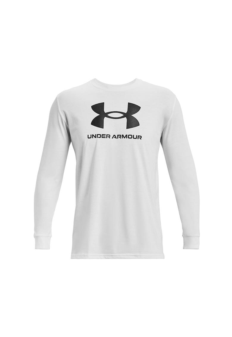 Bluza lejera cu imprimeu logo - penru fitness