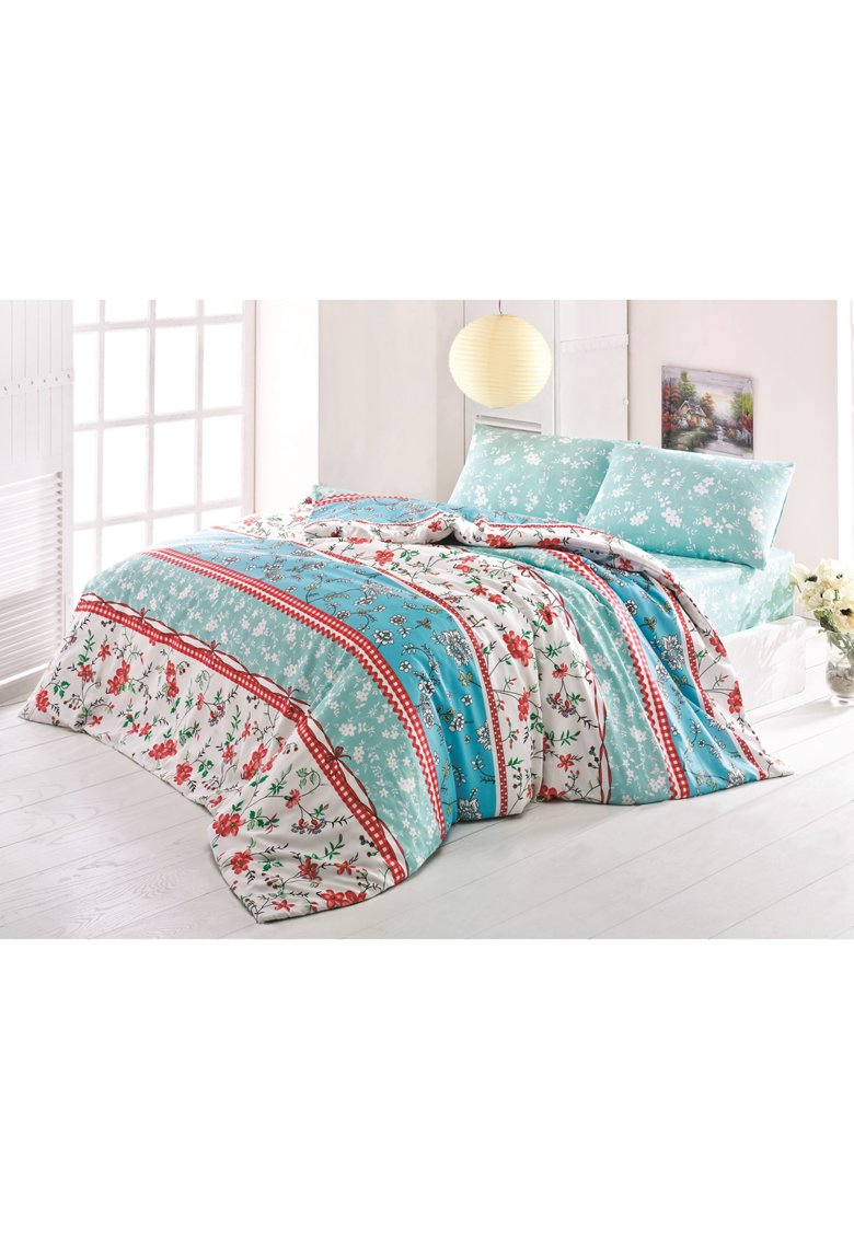 Lenjerie de pat pentru doua persoane - Latte Alisa - Miss Mina poza fashiondays