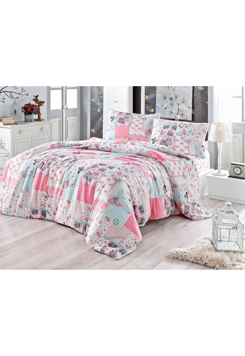 Lenjerie de pat pentru doua persoane - Latte Marissa - Miss Mina imagine fashiondays.ro