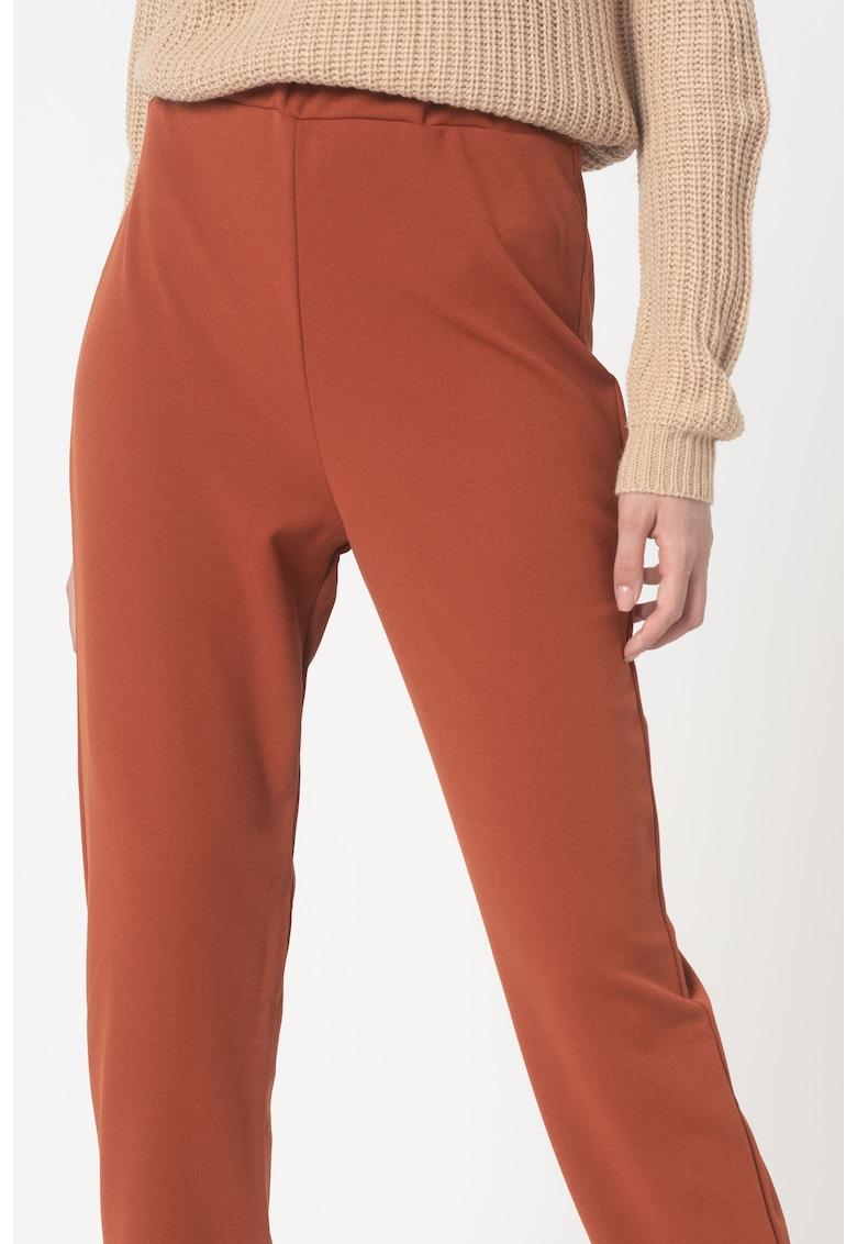 Pantaloni sport conici cu talie inalta