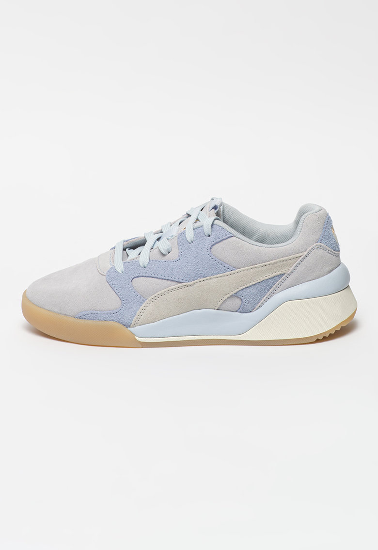 Pantofi sport de piele intoarsa cu insertii din material textil Aeon Rewind imagine fashiondays.ro 2021