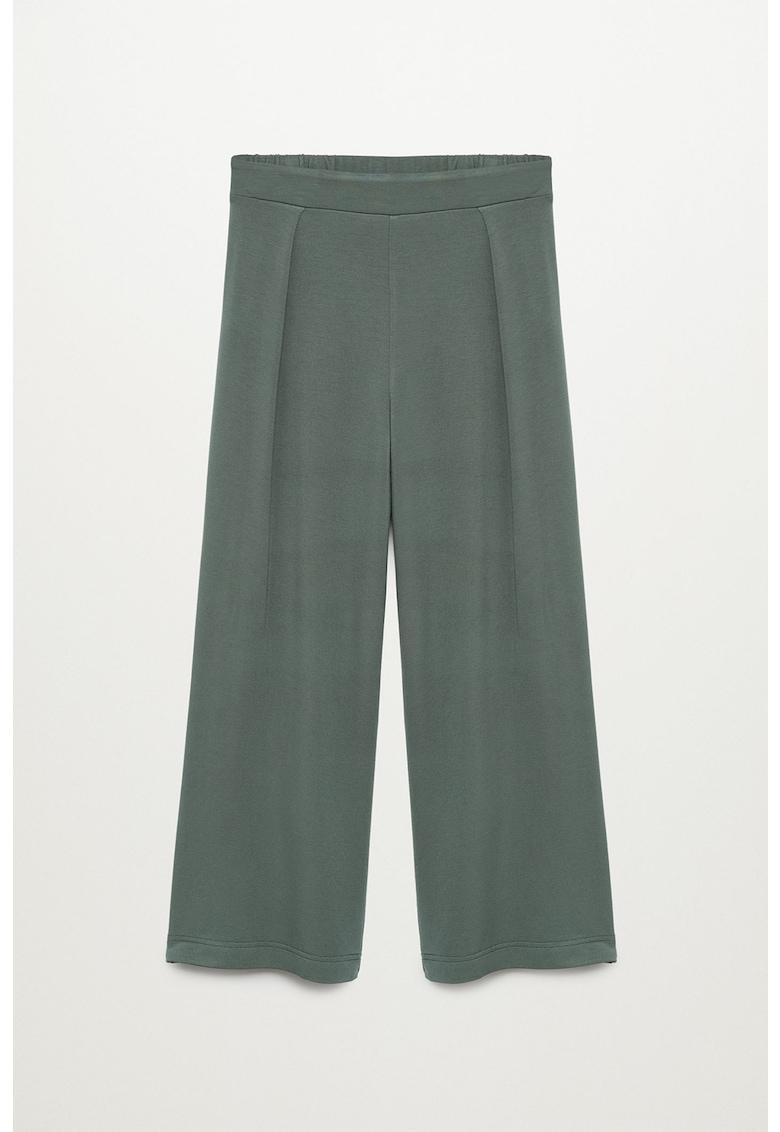 Pantaloni tricotati fin cu croiala ampla Monaco imagine fashiondays.ro