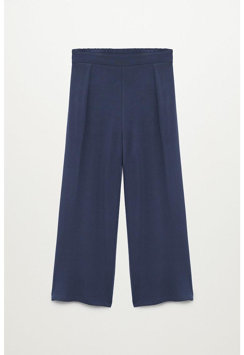 Pantaloni tricotati fin cu croiala ampla Monaco Mango fashiondays.ro