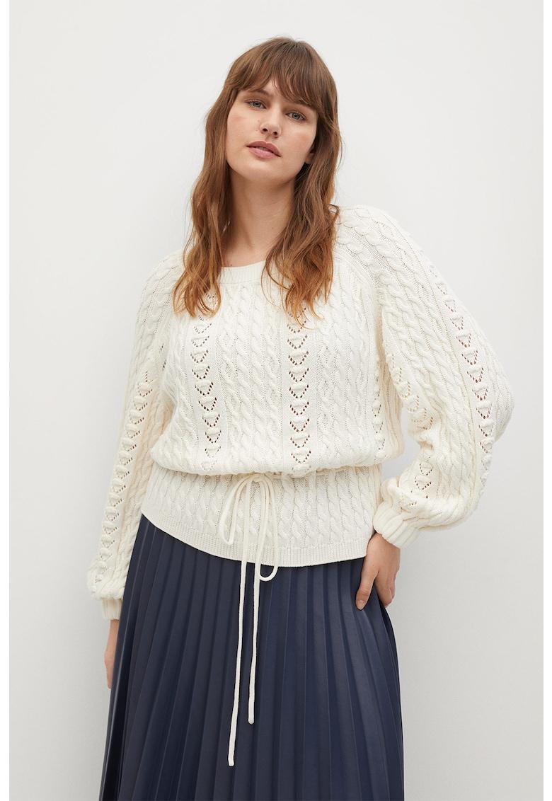 Pulover tricotat cu perforatii Time