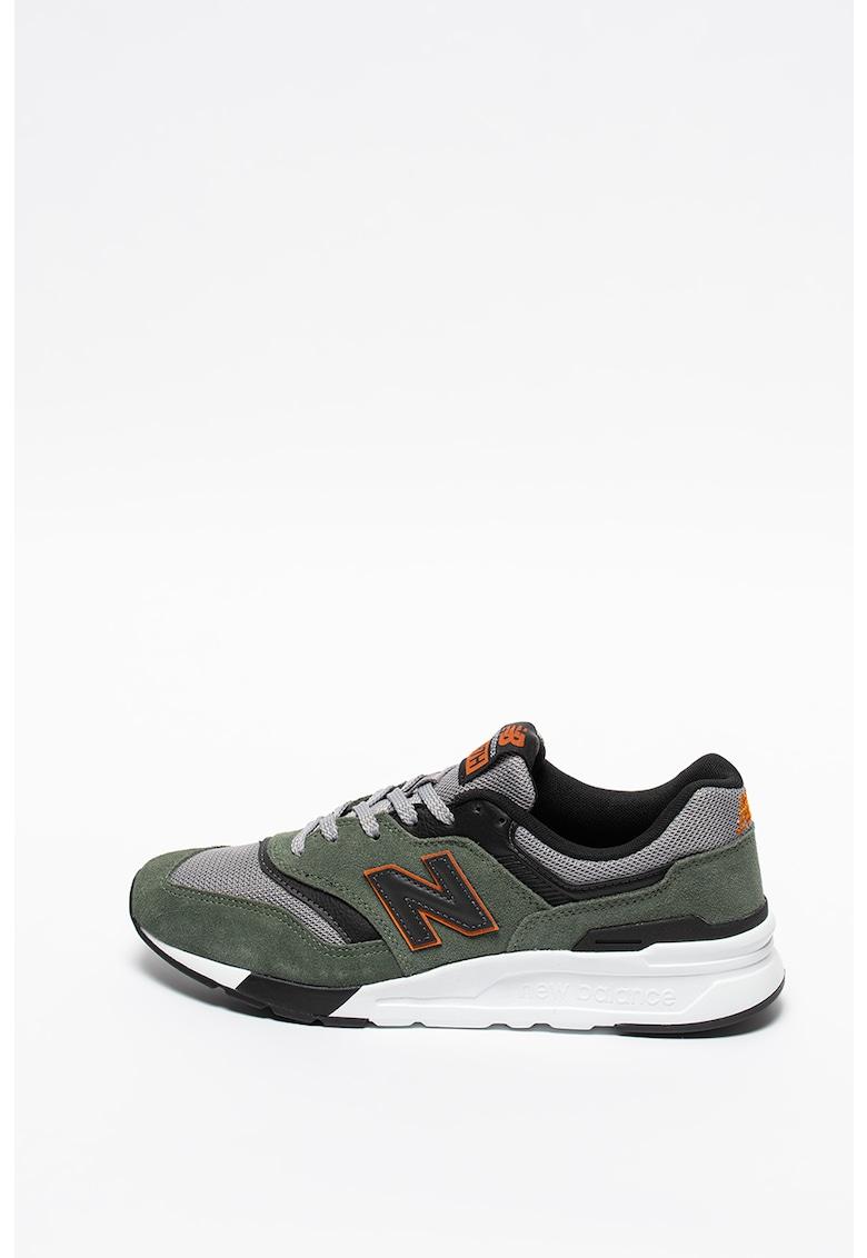 Pantofi sport cu detalii de piele intoarsa 997H imagine
