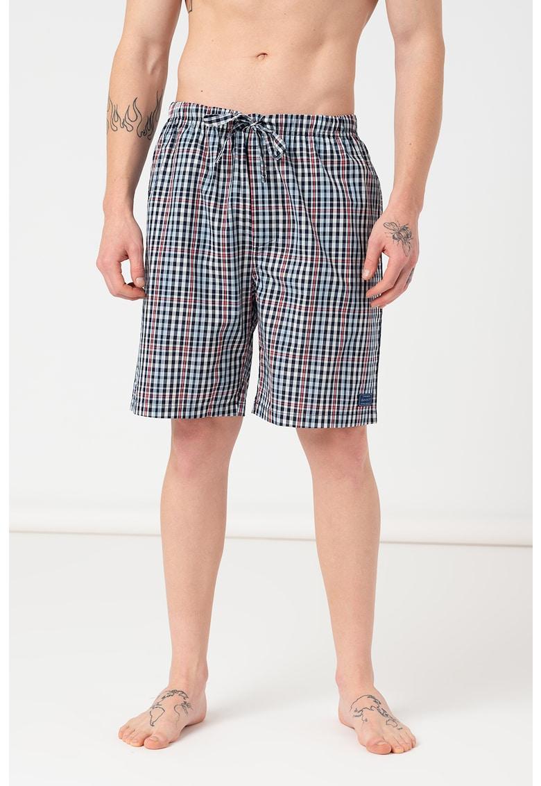 Pantaloni scurti de pijama cu model in carouri
