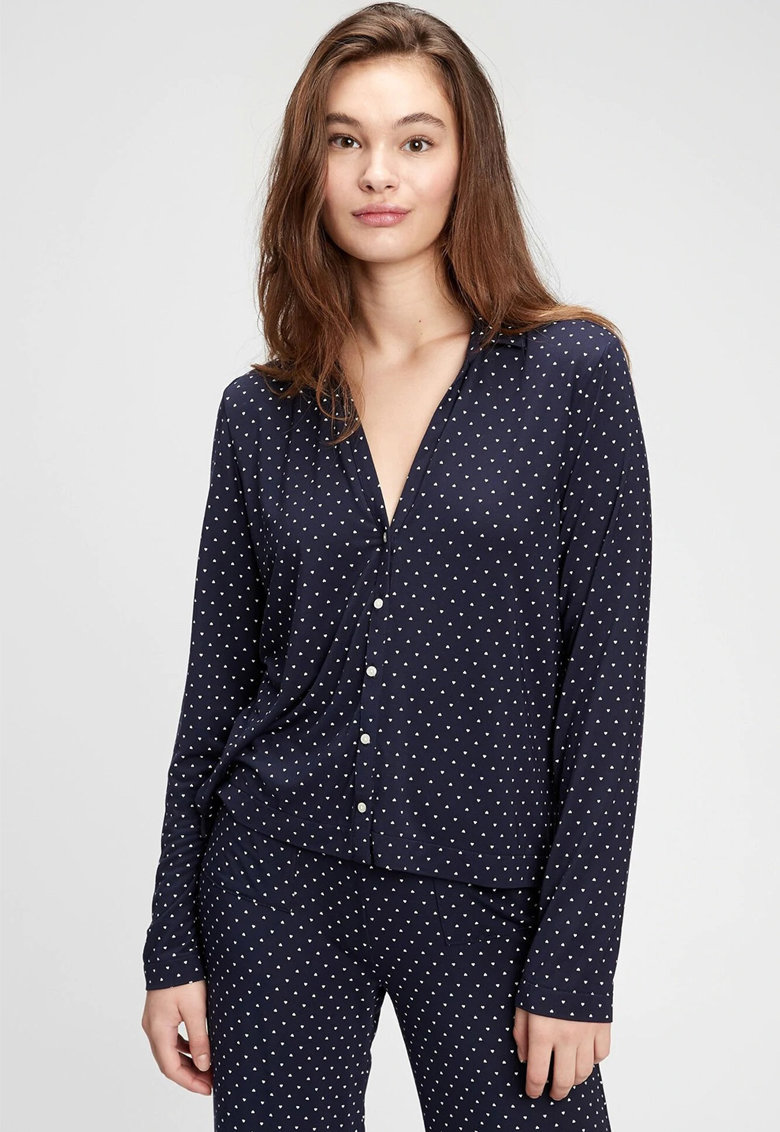 Camasa de pijama din amestec de modal cu nasturi fashiondays.ro