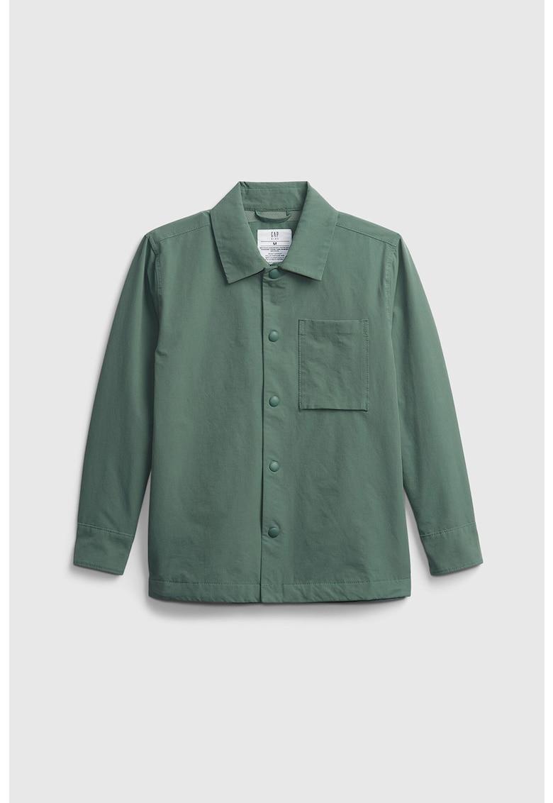 Jacheta tip camasa din material ce nu retine umezeala cu buzunar aplicat