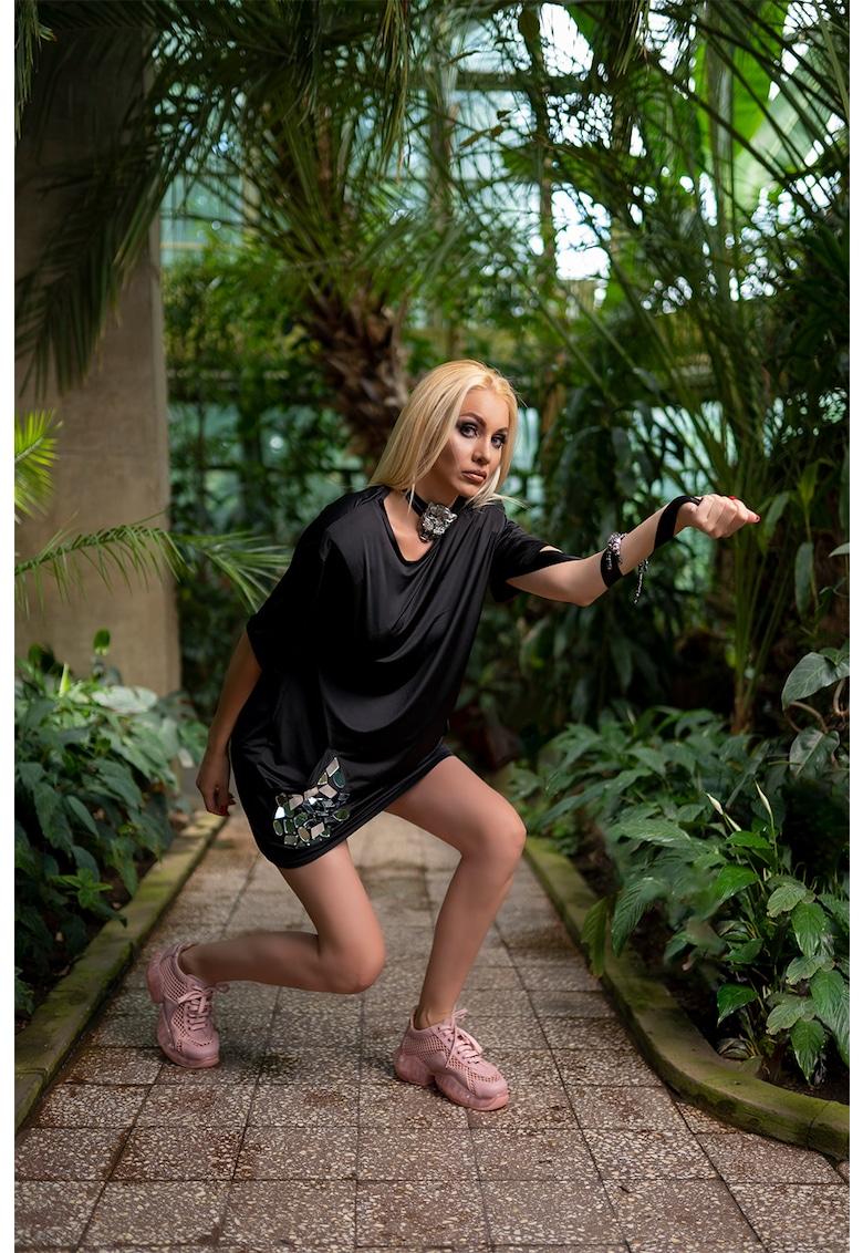 Mitiliane Couture Rochie lejera tip tricou cu buzunare laterale