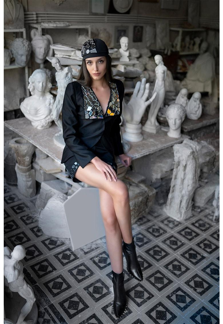 Mitiliane Couture Sacou cu aplicatii oglinda