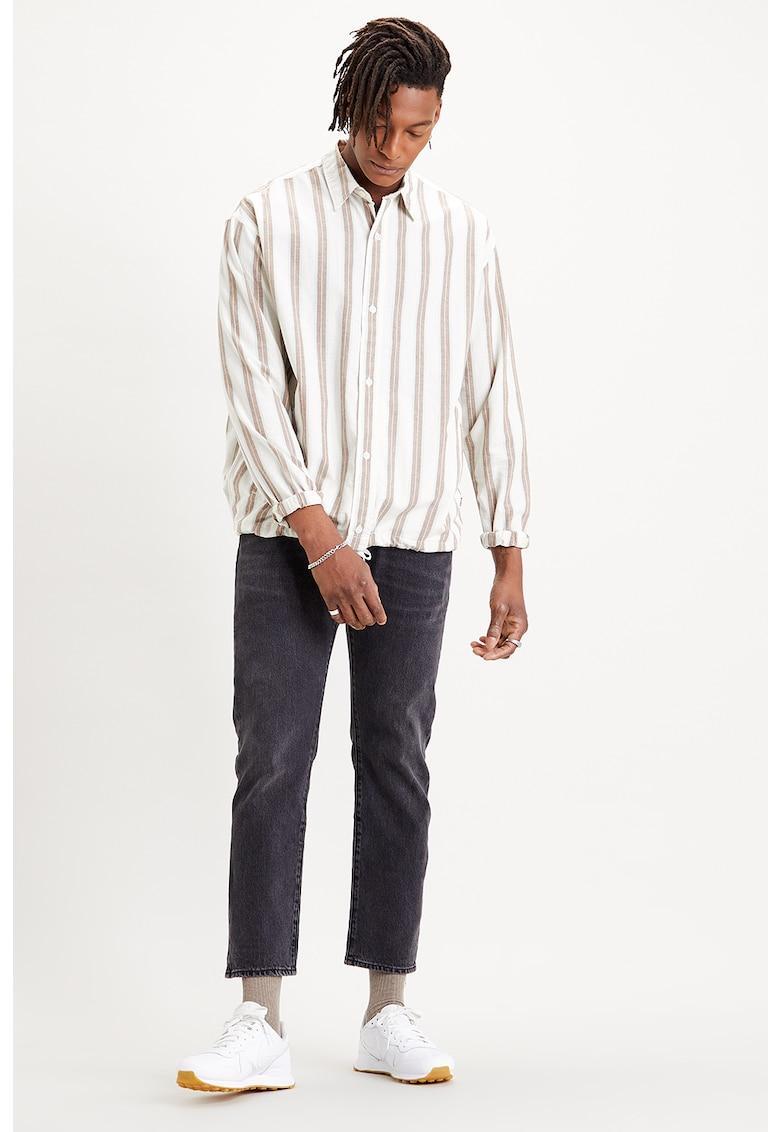 Jacheta tip camasa cu model cu dungi