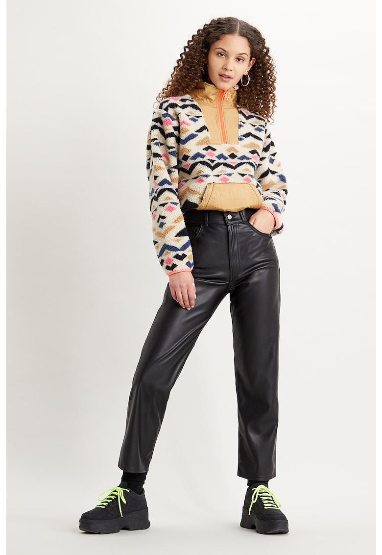 Pantaloni drepti de piele ecologica