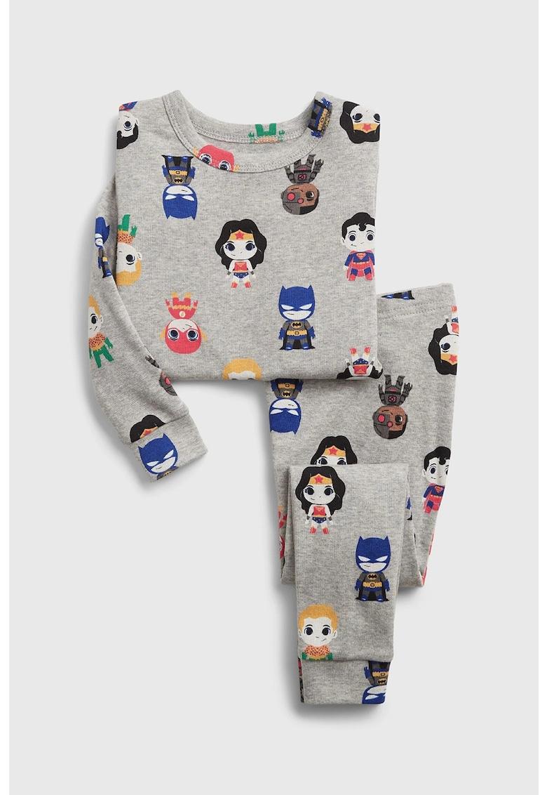 Pijama cu imprimeu DC Universe imagine fashiondays.ro 2021