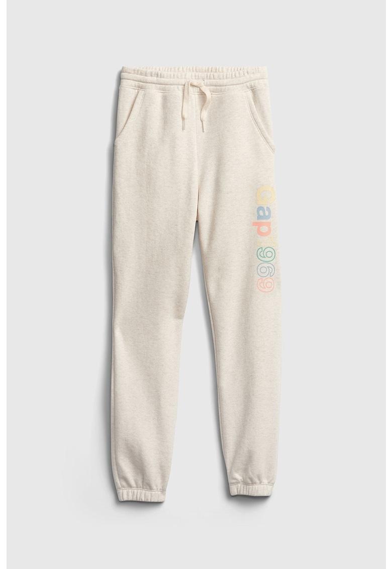 Pantaloni sport cu imprimeu logo imagine fashiondays.ro