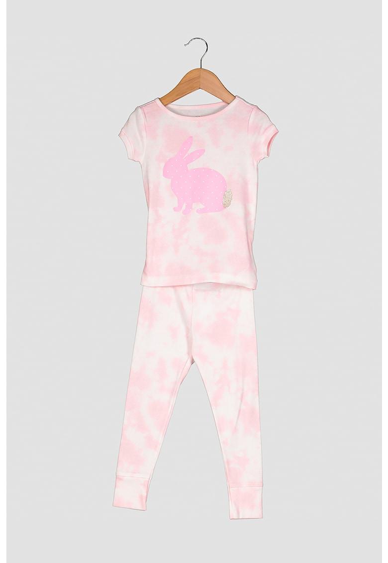 Pijama cu maneci scurte si model tie dye imagine fashiondays.ro 2021