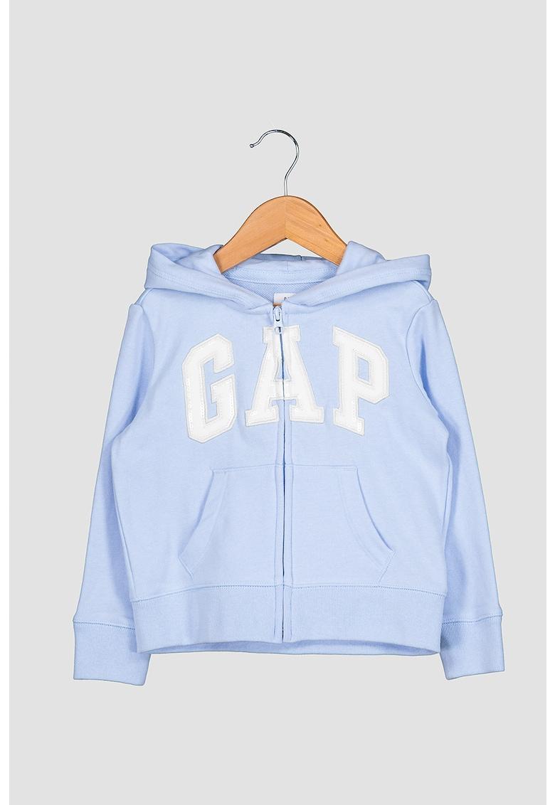 Hanorac cu fermoar si logo brodat GAP fashiondays.ro