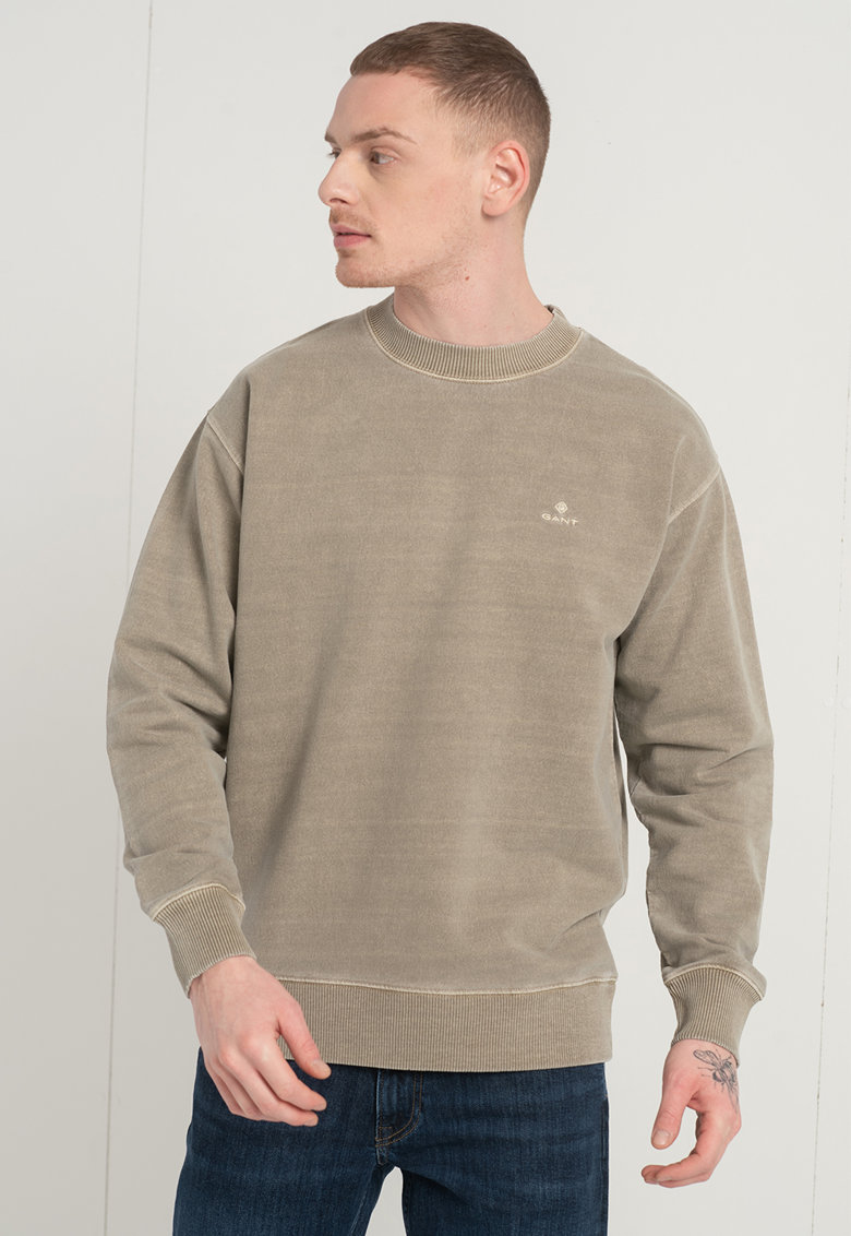 Bluza sport cu decolteu la baza gatului si maneci cazute imagine fashiondays.ro Gant